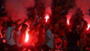 Habemus Pyro: Fans von Galatasaray Istanbul feiern nach dem Sieg gegen Bursaspor das Double.