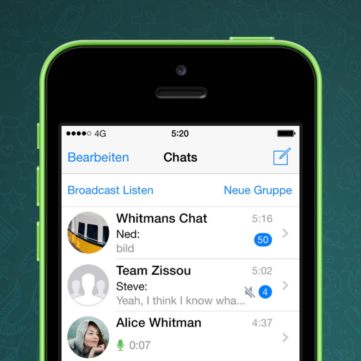 Mit wem, wie häufig, was iPhone erhält Whatsapp Statistik   n tv.de