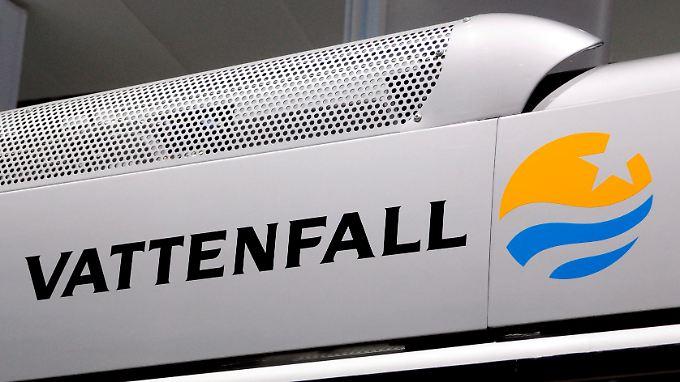 Das Logo von Vattenfall, aufgenommen auf der IAA in Hannover.