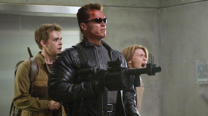 """Arnold Schwarzenegger in """"Terminator 3 - Rebellion der Maschinen""""."""