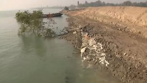 13 Millionen Menschen bedroht: Steigender Meeresspiegel verschlingt Sundarban-Inseln