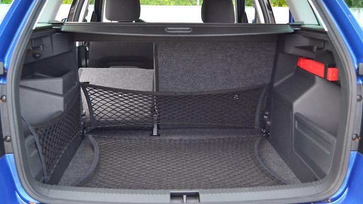 Mit 530 Litern Kofferraumvolumen übertrifft der Fabia Combi so manchen Kombi in der Mittelklasse.