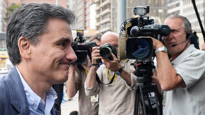 Grund für Optimismus: Griechenlands Finanzminister Tsakalotos in Brüssel.