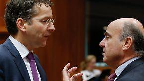 Wahl zum Eurogruppen-Chef: De Guindos fordert Dijsselbloem heraus