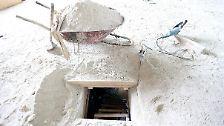 Der Tunnel war 1,7 Meter hoch und 80 Zentimeter breit.