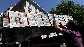 Viele Griechen sind sauer: Harte Linie von Schäuble und Co. erntet geschmacklose Kritik