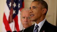 """Obama und Biden: Ziemliche beste Freunde: """"Du, Barack?"""" """"Ja, Joe ..."""""""