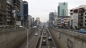Straßenszene in Addis Abeba.