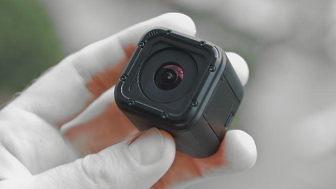 Kleiner Kamera-Würfel: Die Hero 4 Session ist kompakt und leicht.