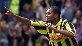 Für 25,5 Millionen Euro wechselte Marcio Amoroso 2001 vom FC Parma zu Borussia Dortmund. Für den BVB ein lohnender Wechsel: Gleich in der ersten Saison wurde der Brasilianer Torschützenkönig - und die Borussia Deutscher Meister.