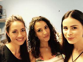 Selfie mit den GZSZ-Mädels: Nadine Menz (l.), Elena Garcia Gerlach und Lena
