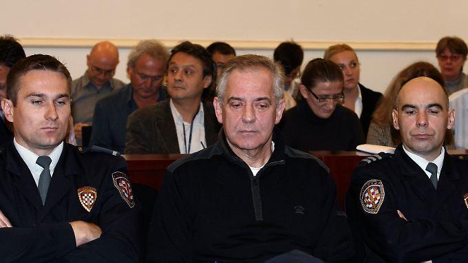 Ivo Sanader 2011 vor Gericht in Zagreb.