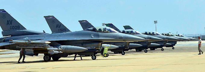 Die F-16 wurden von Italien in die Türkei verlegt.