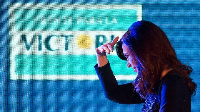 """Präsidentin Cristina Kirchner sprach immer wieder von """"Geierfonds""""."""