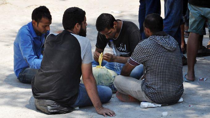 Flüchtlinge auf der griechischen Insel Kos. Viele von ihnen wollen weiter nach Schweden.
