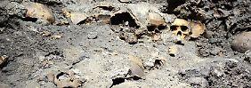 Fundsache, Nr. 1300: Aztekische Schädelwand in Mexiko-Stadt