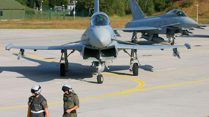 Einsatz mit den Kollegen aus Ungarn: Neun Nato-Maschinen sollen den baltischen Luftraum sichern.