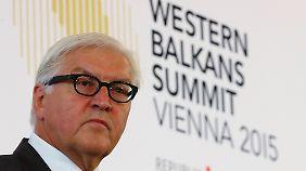 """Westbalkan-Konferenz in Wien: Steinmeier: """"Grenzzäune lösen nicht das Thema Migration"""""""