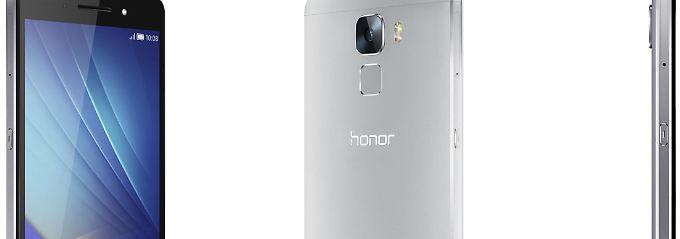 Metallgehäuse, Fingerabdrucksensor: Honor 7 bietet viel fürs Geld