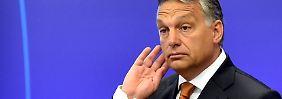 Orban hielt sich heute in Brüssel auf, um über die europäische Flüchtlingspolitik zu sprechen.