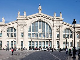 Beliebtes Fotomotiv: Die neoklassizistische Fassade des Gare du Nord aus dem Jahr 1864.
