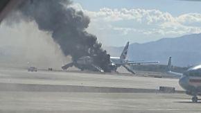 Kurz vor dem Start in Las Vegas: British-Airways-Flugzeug gerät auf Rollfeld in Brand