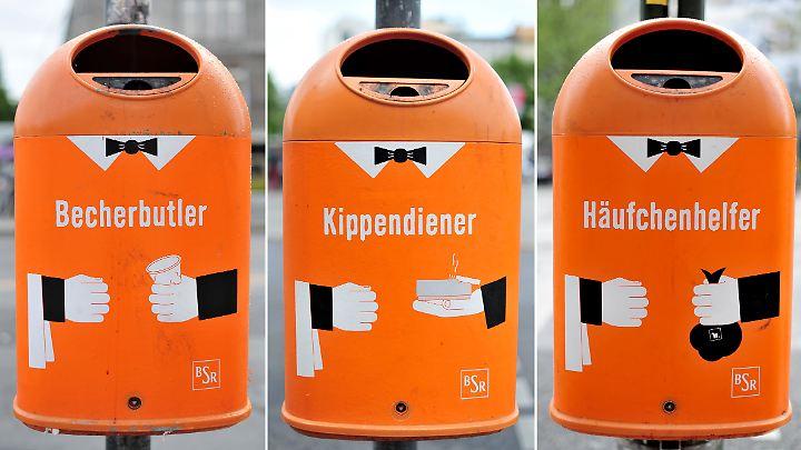 Die etwas andere Art der Mülltrennung. Dit is' Berlin.