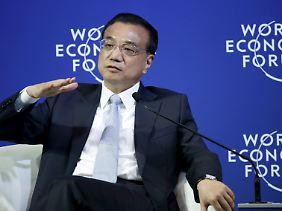 Li Keqiang bliebt beim Wachstumsziel von sieben Prozent für 2015.
