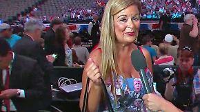 Kaum zu glauben, aber wahr: Weiblicher Donald-Trump-Fan gibt alles