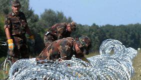 Ungarn schließt Grenze zu Kroatien: Orbán: Zäune sind die Lösung
