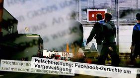 Böse Gerüchte auf Facebook: Internet-Hetze gegen Flüchtlinge schockiert