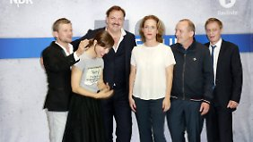 Andreas Guenther, Anneke Kim Sarnau, Charly Hübner, Claudia Michelsen, Uwe Preuss und Sylvester Groth.