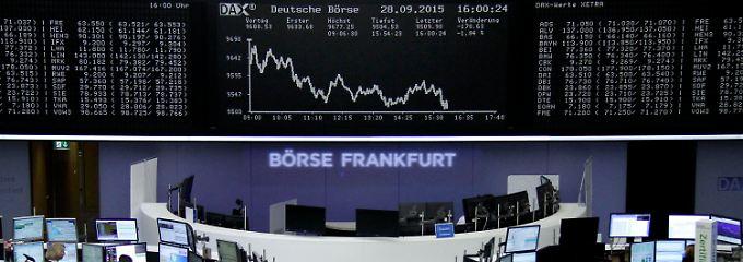 """Den Wochenstart """"vermasselt"""": Der deutsche Leitindex am Vorabend."""
