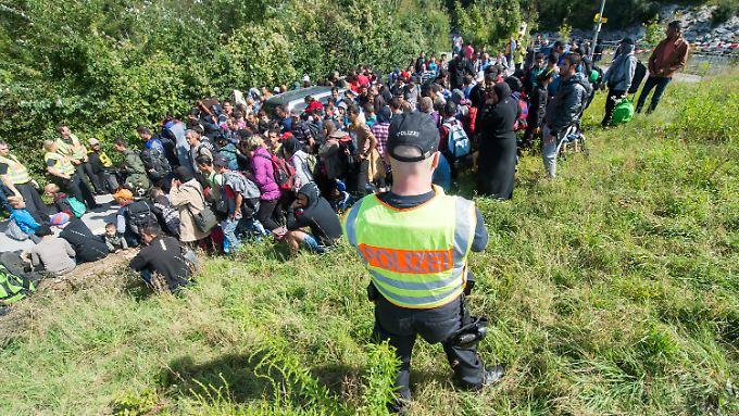 Im August kamen über 100.000 Flüchtlinge nach Deutschland.