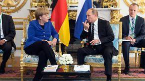 Lockerung westlicher Sanktionen?: Merkel und Hollande vermitteln beim Ukraine-Gipfel
