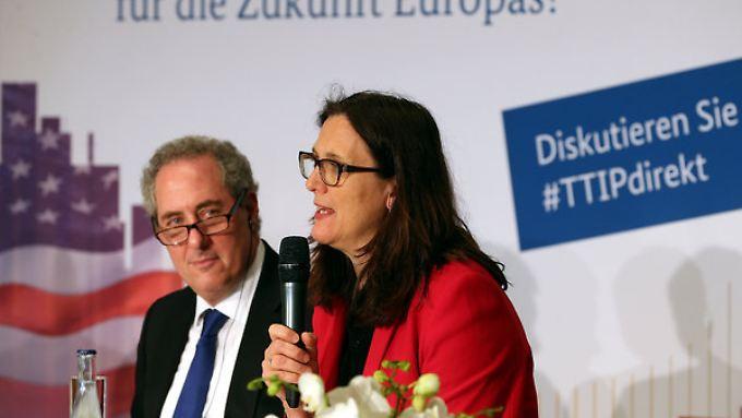 Gefährdung von TTIP?: EU-Kommissarin geht hart mit Volkswagen ins Gericht