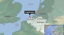 Schiffsunglück in der Nordsee: Flüssiggastanker versenkt Frachter