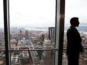 Trübe Aussichten in Manhattan: Die Folgen der Konjunkturflaute hat die Fondsanbieter voll erwischt.