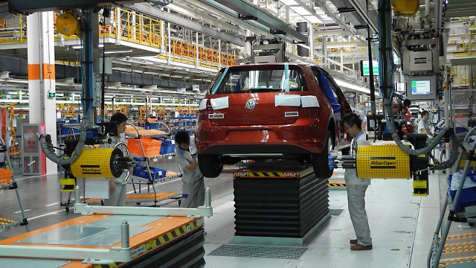 Produktion im VW-Werk in Foshan.