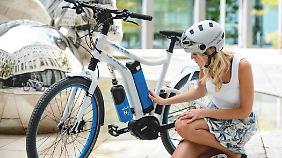 Der Wasserstofftank des Linde-Bikes kann auch zu Hause befüllt werden.