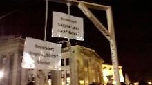"""Gabriel gewinnt Prozess: """"Pegida-Galgen"""" darf nicht verkauft werden"""
