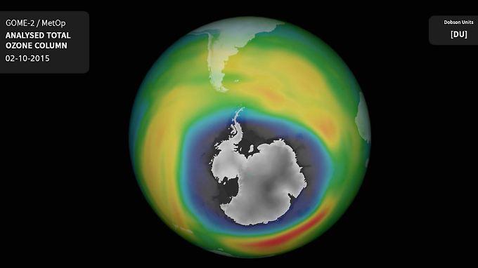 Das Bild der letzten Ozon-Messung.