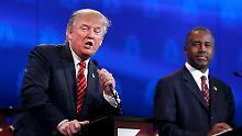 TV-Debatte der Republikaner: Carson ist Trump dicht auf den Fersen