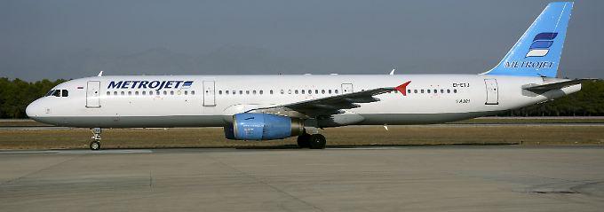 Flugnummer 9268: Der Airbus A321 mit der Kennung EI-ETJ flog für Metrojet.