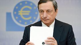 """Halbzeit für """"Super-Mario"""": EZB-Chef Draghi lässt sich nicht beirren"""