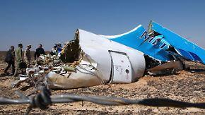 Flugzeugabsturz in Ägypten: Großbritannien hält Anschlag für wahrscheinlich