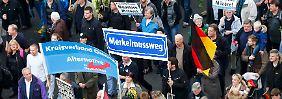 Kundgebung in Berlin: 5000 AfD-Anhänger gehen auf die Straße