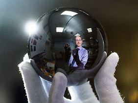 Eine Siliziumkugel wird der neue Standard.