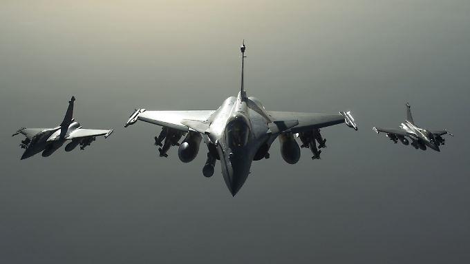 Französische Rafale-Kampfjets im Einsatz