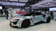 Dicke Hose in Dubai: Motorshow in der Wüste